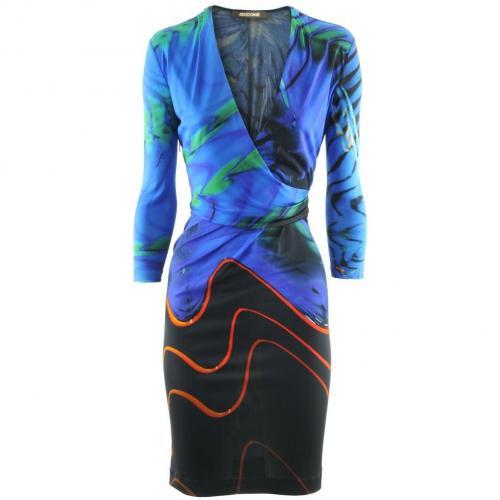 Roberto Cavalli Royal Viola Print Dress
