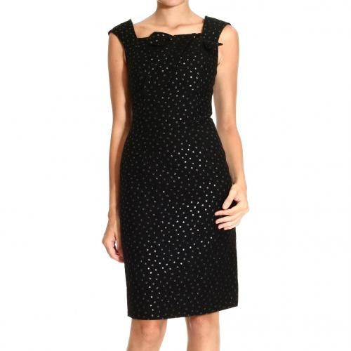 Roberto Cavalli Sleeveless wool polka dot bow dress