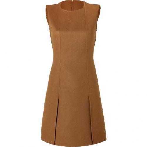 Salvatore Ferragamo Brown Sugar Wool-Cashmere A-Line Dress