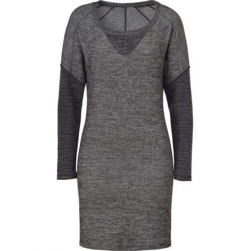 See by Chloé Grey Mélange Wool Blend Kleid
