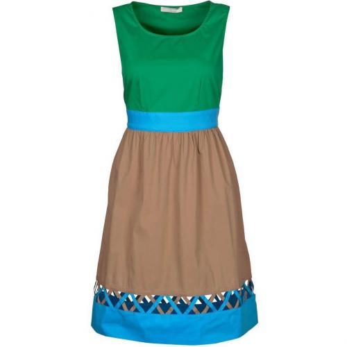 Stefanel Sommerkleid grün/blau/braun