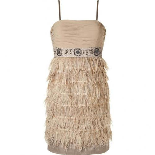 Steffen Schraut Dusty Sand Charlotte Feather Dress