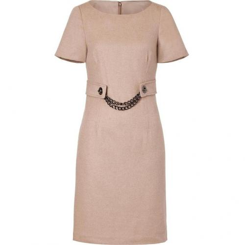 Steffen Schraut Soft Nougat Dress with Chain Sash