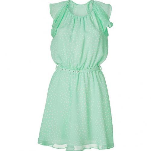 Tara Jarmon Mint Polka Dot Print Silk Dress