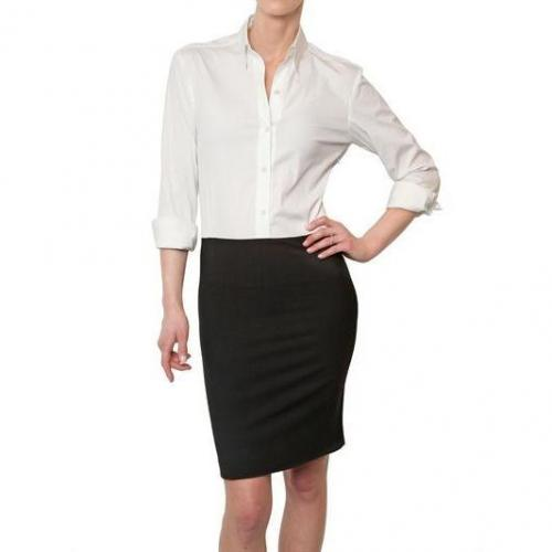 Theory Cool Woll Und Poplin Stretch Combo Kleid