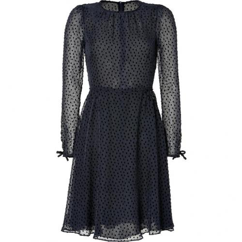 Valentino Black Polka Dot Sheer Dress