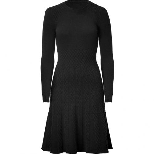 Valentino Black Wool-Cashmere Knit Dress