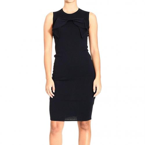 Valentino Sleeveless knitted fabric bow dress