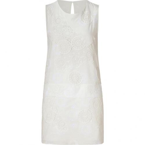 Vanessa Bruno White Lace Embroidered Cotton Dress