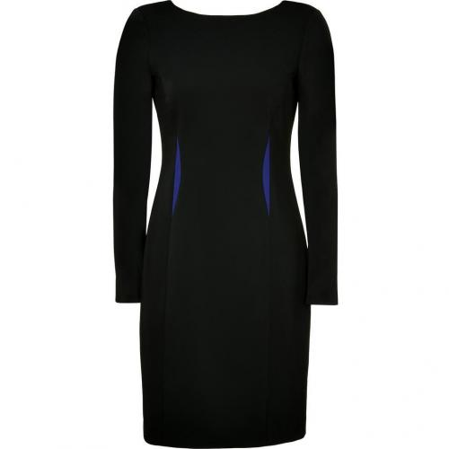 Versace Black Dress with Royal Blue Trim