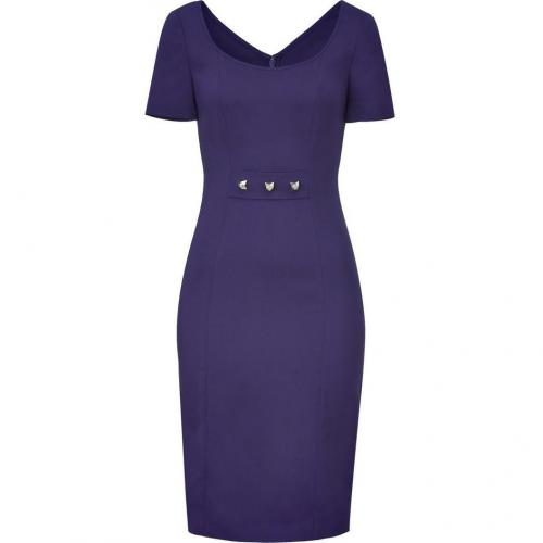 Versace Persian Blue Studded Sheath Dress