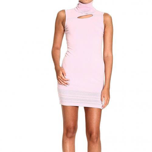 Versace Sleeveless roll neck knitted fabric dress