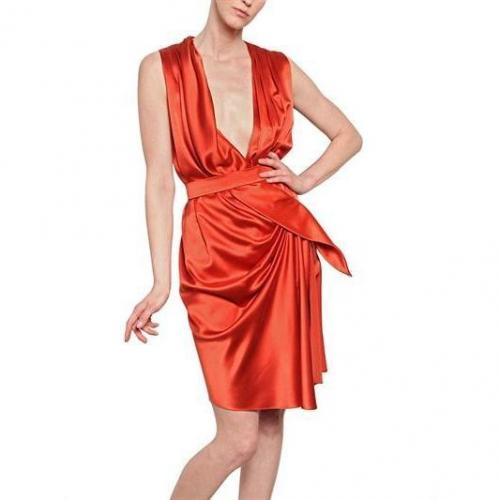 Vionnet Drapiertes Washed Seiden Satin Kleid