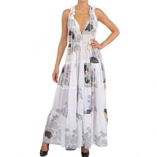 Yvonne S Bedrucktes Baumwoll Gauze Kleid White