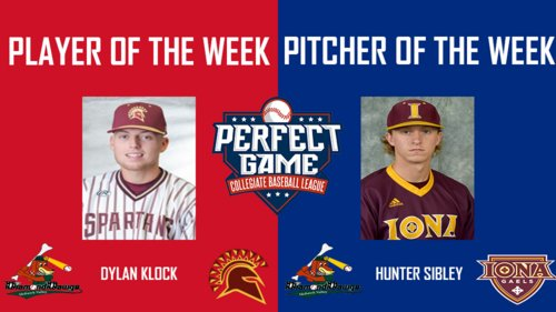 Klock and Sibley Named PGCBL Player of the Week