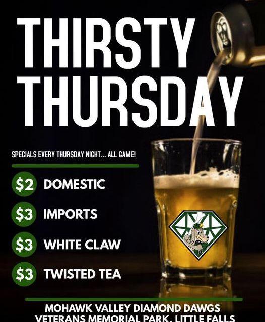 THIRSTY THURSDAY DRINK SPECIALS…