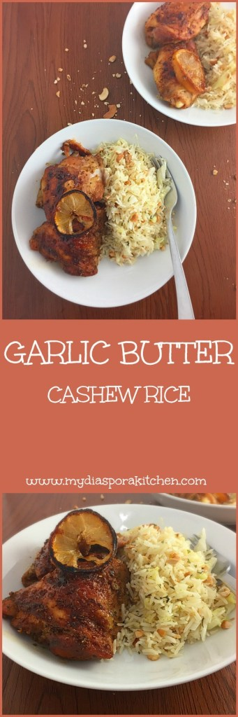 Garlic Butter Cashew Rice