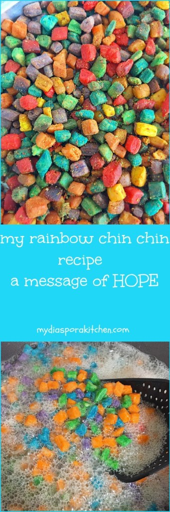 Rainbow Chin chin Recipe