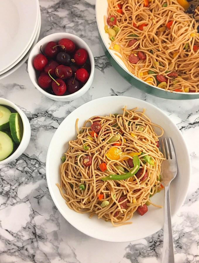 Whole grain Spaghetti dish Al Dente