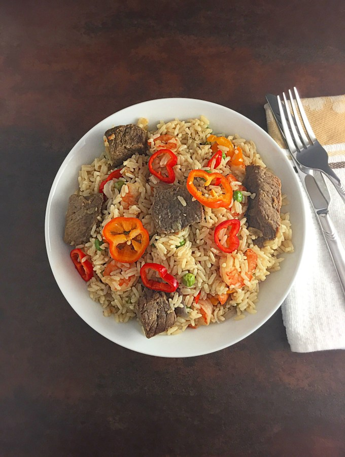 Simple Coconut Rice. without tomatoes