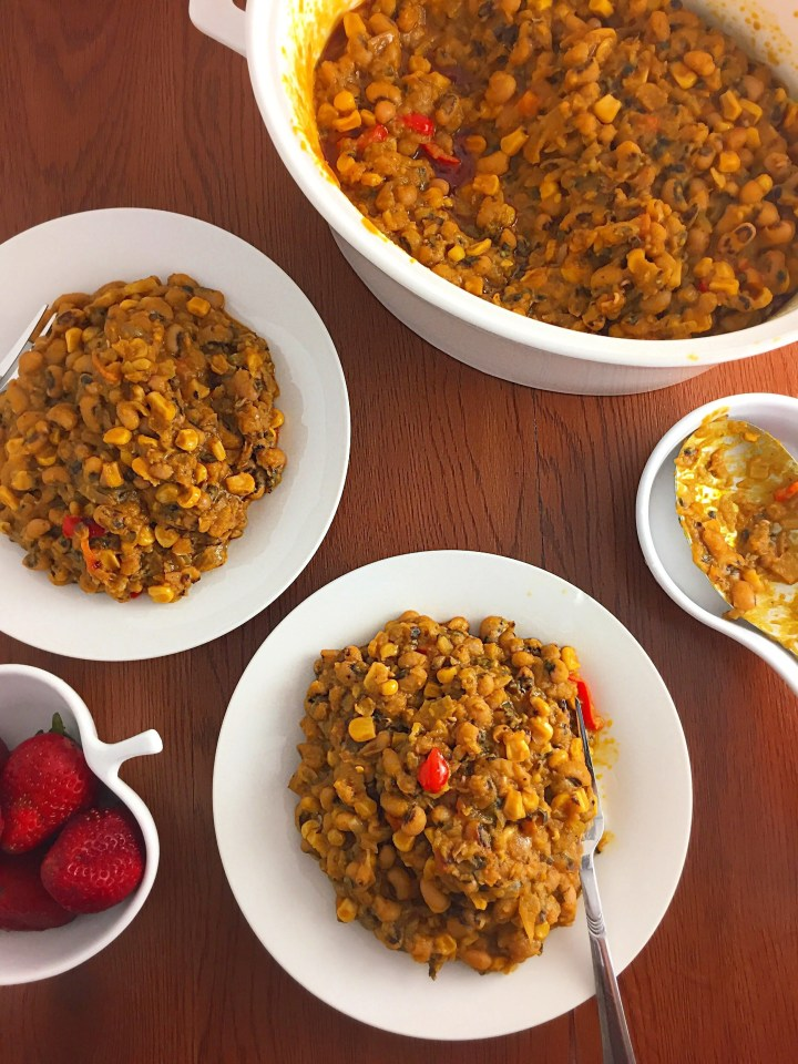 One Pot beans and Sweet corn