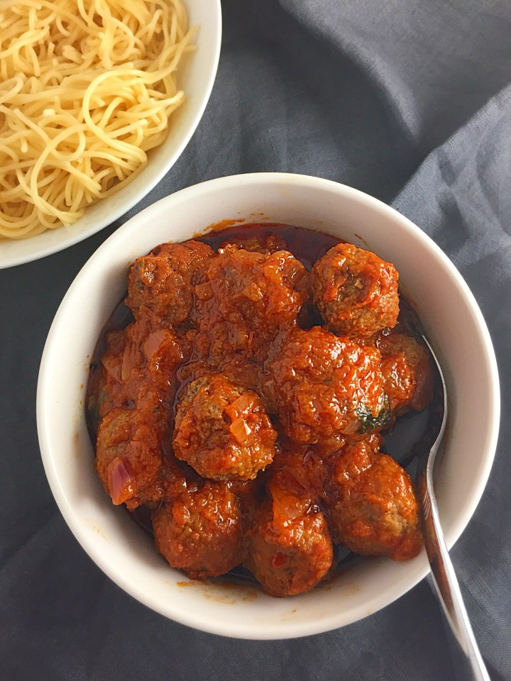 Quickest, yet delicious meatball sauce