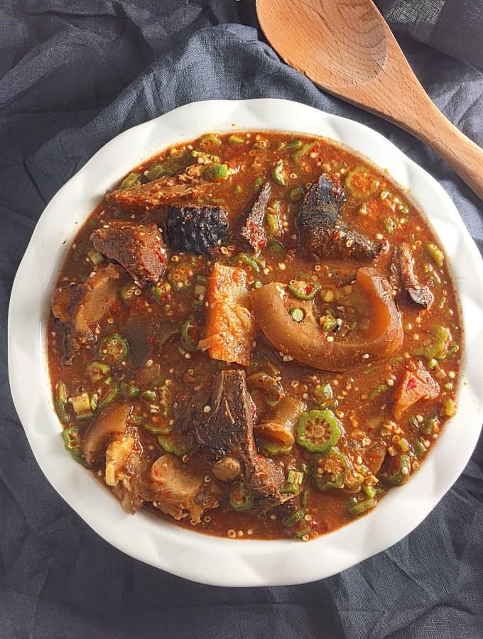 Easy Nigerian Okro Soup.