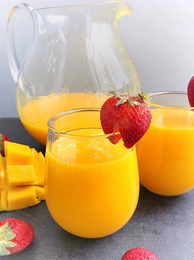 Velvety smooth mango juice