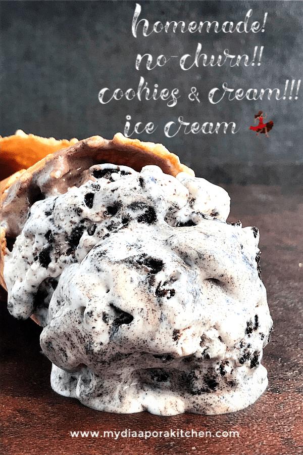No Churn Ice-cream series: cookies and cream