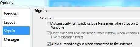 Disable Windows Live Messenger AutoStart