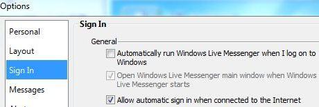 Disable Windows Live Messenger AutoStart