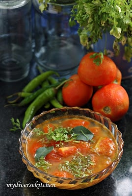 Tomato Rasam – An Indian Tomato and Lentil Soup