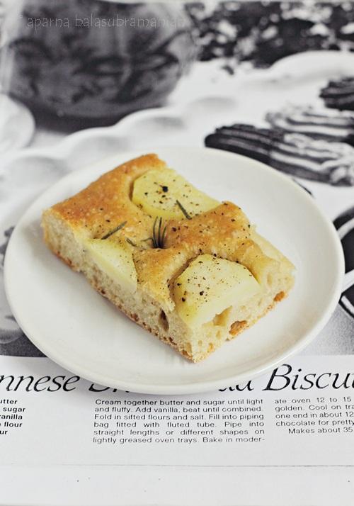 Potato Focaccia Pugliese slice