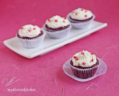 Got Beets In My Cake Eggless Red Velvet Cupcakes