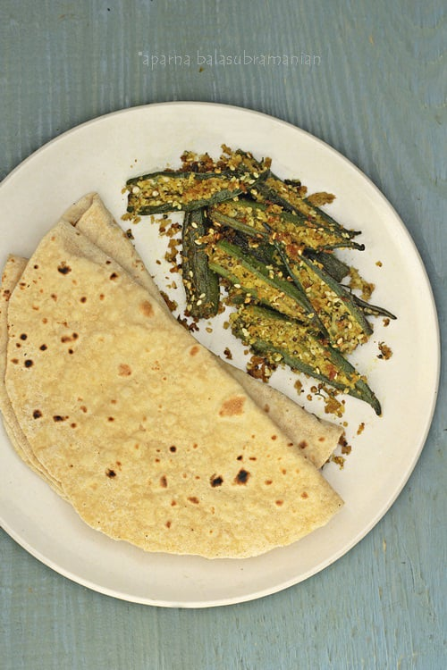 Bhindi Sambhariya – Gujrathi Style Stuffed & Pan Fried Okra