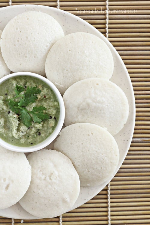 Idlis  South Indian Steamed Savoury Rice  Lentil Cakes