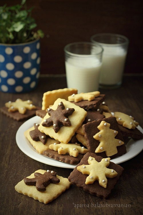 egg free chocolate amp vanilla christmas cookies recipe my