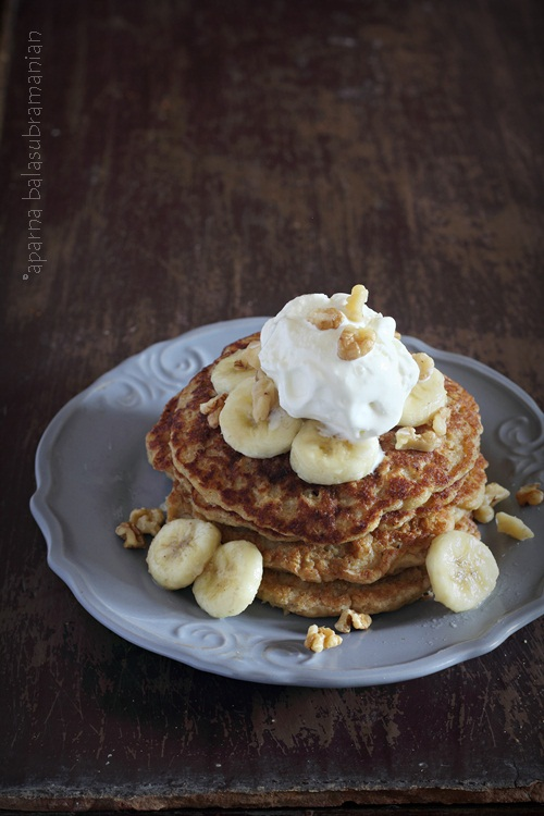 Whole Wheat Oats Banana Pancakes
