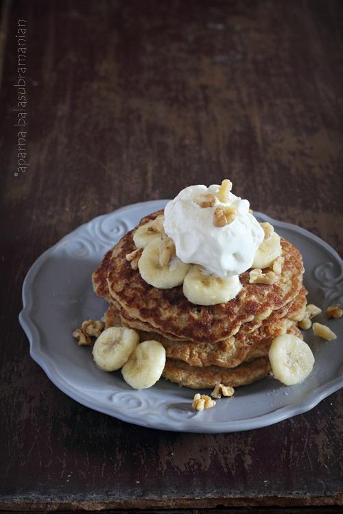 Whole Wheat Oats Banana Pancakes