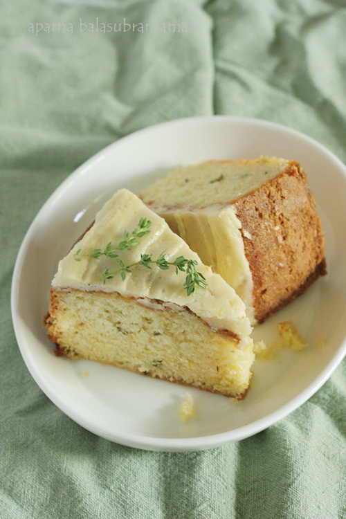 Lime & Thyme Cake Slices