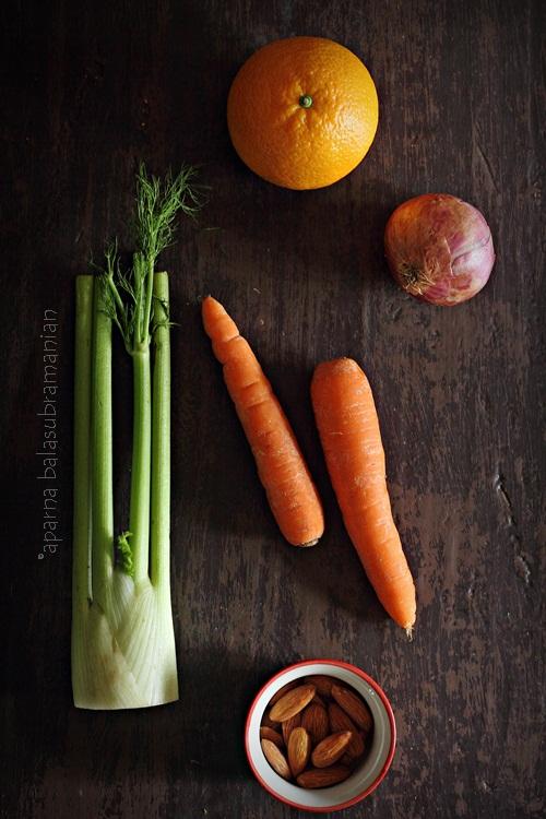 Orange Fennel Salad Ingredients