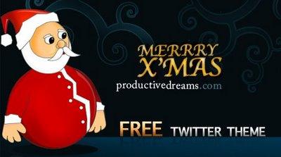 Merry X'mas Free Twitter Theme