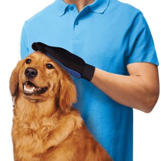 Speciali pirštinė, šukos šuns kailio priežiūrai