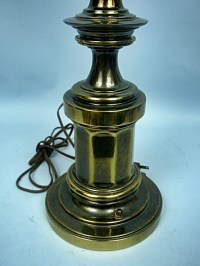 "Stiffel 34"" Mid-Century Antiqued Solid Brass Table Lamp ..."