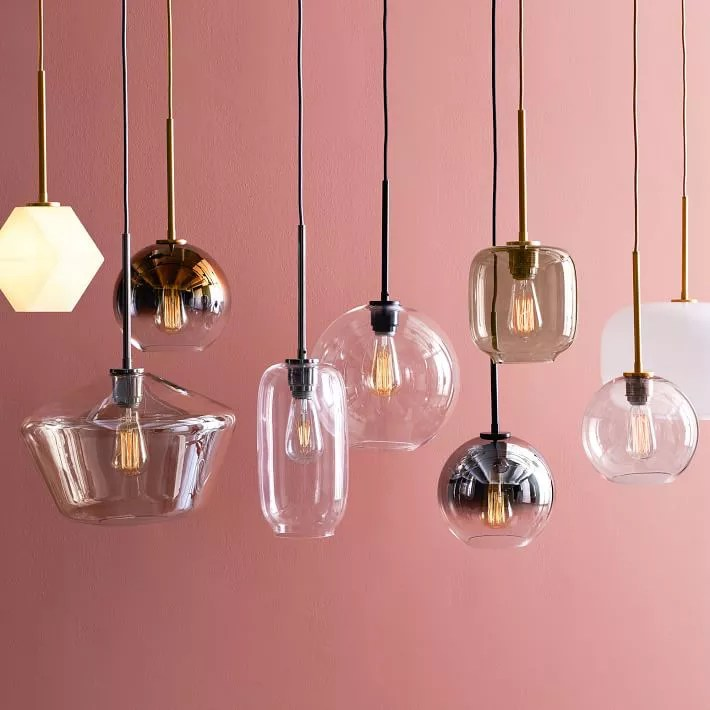 A collection of pendant lights, currently for sale at West Elm