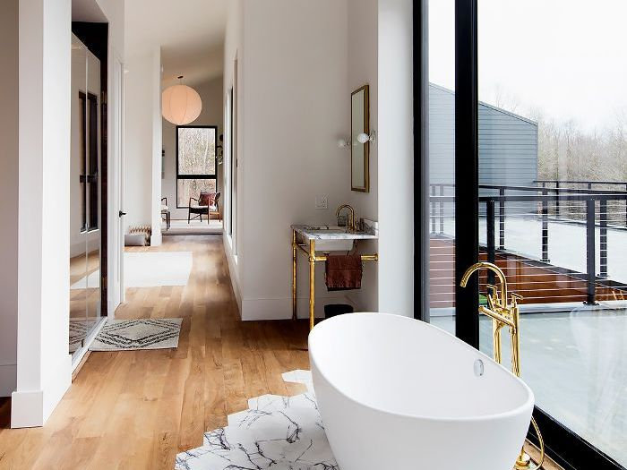 our favorite new trend contrast floors