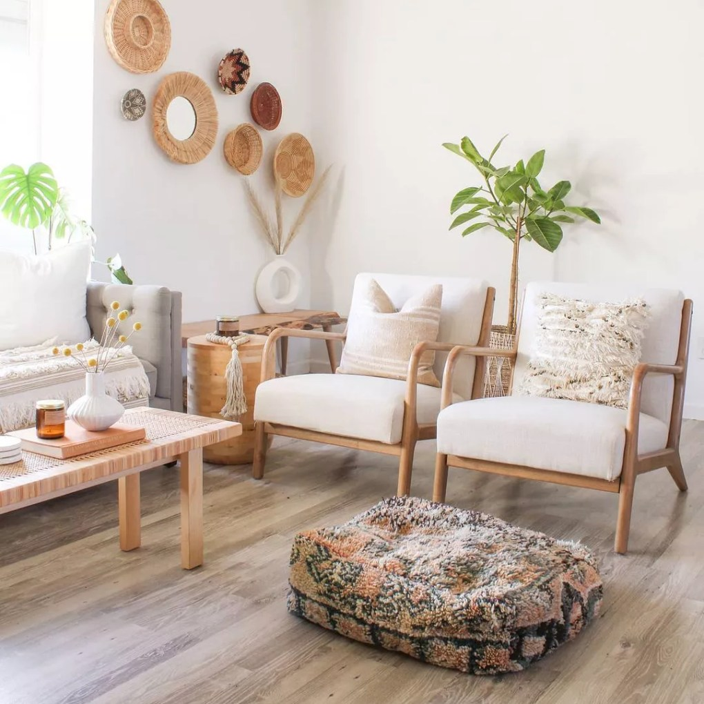 Living room with side chairs