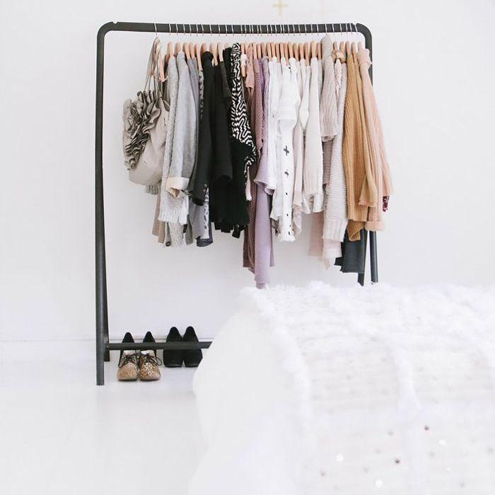 عداد الملكة كمية كبيرة ikea clothing rack white