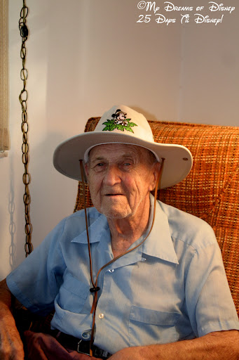 My Grandpa sporting my Safari Mickey hat!