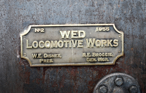 E.P. Ripley - WED Locomotive Works Bonze Plaque